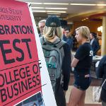 """THE COLLEGE OF BUSINESS WELCOMED BACK ITS STUDENTS AT """"CELEBRATION FEST."""""""