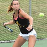 WOMEN'S TENNIS OPENED ITS SEASON BY SPLITTING A PAIR OF MATCHES AGAINST  MICHIGAN TECH AND LAKE SUPERIOR.