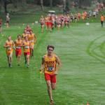 THE ANNUAL RAY HELSING CROSS COUNTRY INVITATIONAL FILLED THE HILLS OF KATKE GOLF COURSE.