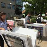 A GLOBAL PRINTS POSTER SALE TOOK PLACE IN THE CAMPUS QUAD.