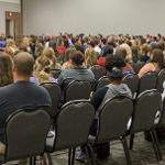THE COLLEGE OF BUSINESS EVENT DREW A LARGE AUDIENCE.