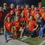 THE STUDENT ALUMNI GOLD CLUB PLACED SECOND AT THE HOMECOMING KICKBALL TOURNAMENT