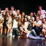 PI LAMBDA PHI AND LAMBDA KAPPA SIGMA TOOK FIRST PLACE IN THE LIP SYNC COMPETITION.