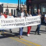 HOMECOMING PARADE IN DOWNTOWN BIG RAPIDS