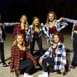THE FSU DANCE TEAM PERFORMED AT THE BONFIRE.