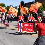 THE HOMECOMING PARADE ALSO FEATURED THE BIG RAPIDS HIGH SCHOOL MARCHING BAND.