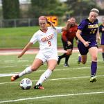 WOMEN'S SOCCER BATTLED UNBEATEN ASHLAND TO A 0-0 DRAW AT TOP TAGGART FIELD.
