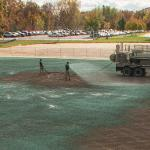 NATURAL GRASS AND ARTIFICIAL SURFACE PRACTICE FIELDS ARE ROUNDING INTO SHAPE.