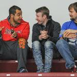 FSU HOCKEY FANS ENJOY THE UP-AND-DOWN ACTION AT THE EWIGLEBEN ICE ARENA.