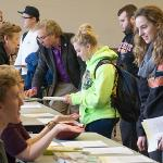 STUDENTS LEARNED ABOUT THE BENEFITS OF EDUCATION ABROAD AT THE STUDY ABROAD FAIR.