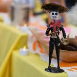 "SPANISH FACULTY HOSTED A ""DAY OF THE DEAD"" HOLIDAY CELEBRATION."