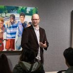 """AN ARTIST'S RECEPTION WAS HELD FOR DUSTIN ROGERS AND HIS """"SUMMERTIME"""" EXHIBIT AT THE FSU FINE ART GALLERY."""
