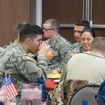 THE ANNUAL VETERANS DAY BREAKFAST WAS HOSTED BY THE PRESIDENT'S OFFICE.