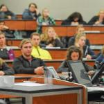 THE HONORS PROGRAM HELD ITS SPEECH CONTEST.