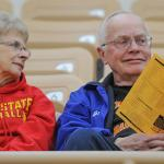SCENES FROM WOMEN'S BASKETBALL AT WINK ARENA.