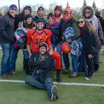 IT WAS SENIOR DAY AT TOP TAGGART FIELD FOR THE BULLDOGS.