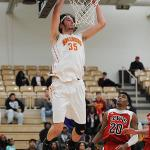 SOPHOMORE ZACH HANKINS LED THE BULLDOGS WITH 30 POINTS.
