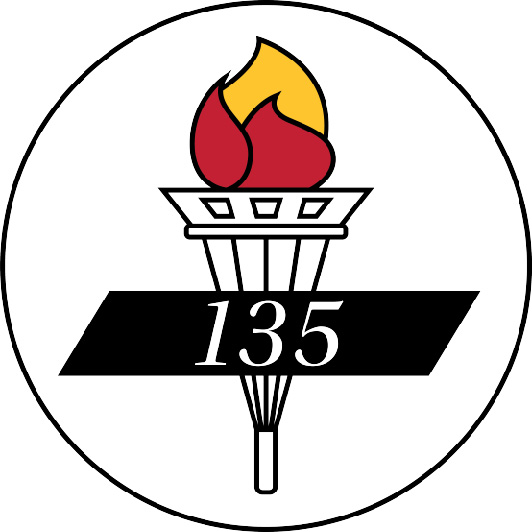 The university's 135 Seal graphic in full color