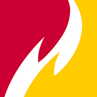 Ferris State University Logo: Full Color Box Flame