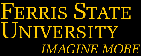 Ferris State University Logo: Gold Stacked Wordmark with Tagline
