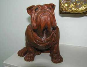 Brutus the bulldog Statue