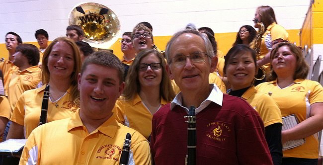 Dr. Eilser with Band