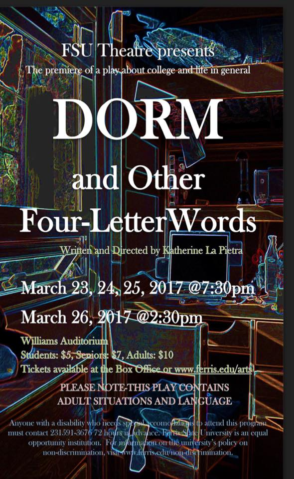 Four Letter O Words.Dorm And Other Four Letter Words Ferris State University