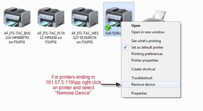 Active Directory Printers For Windows 7