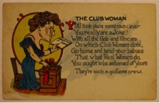 Club Woman poem
