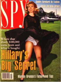 Hillary on Spy Magazine cover